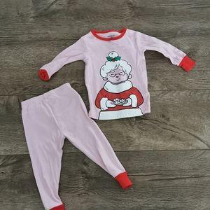 3/$15 Carter's Christmas pajamas 12 M